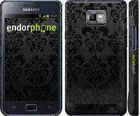 """Чехол на Samsung Galaxy S2 Plus i9105 узор черный """"1612c-71"""""""