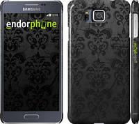 """Чехол на Samsung Galaxy Alpha G850F узор черный """"1612c-65"""""""