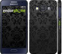 """Чехол на Samsung Galaxy A3 A300H узор черный """"1612c-72"""""""
