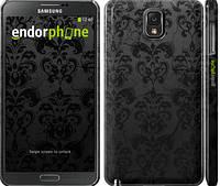 "Чехол на Samsung Galaxy Note 3 N9000 узор черный ""1612c-29"""