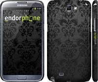 "Чехол на Samsung Galaxy Note 2 N7100 узор черный ""1612c-17"""