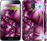 "Чехол на Samsung Galaxy S5 Duos SM G900FD Цветочная мозаика ""1961c-62"""