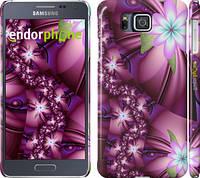 "Чехол на Samsung Galaxy Alpha G850F Цветочная мозаика ""1961c-65"""