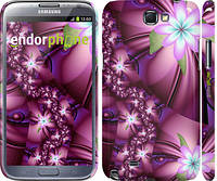 "Чехол на Samsung Galaxy Note 2 N7100 Цветочная мозаика ""1961c-17"""