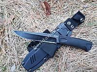 Тактический нож толстый сквозной клинок ,Рукоять резинопластик