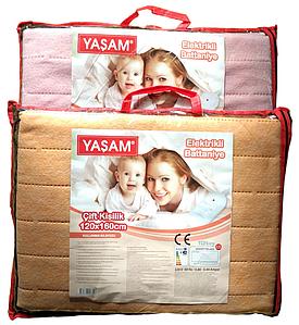 Електрична простирадло YASAM 120x160 - Туреччина (Электропростынь - термошов - байка) T-54997