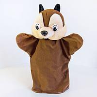Ляльковий театр Zolushka Бурундук 24см (311)! Лялька рукавичка для лялькового театру перчаточная на палець!