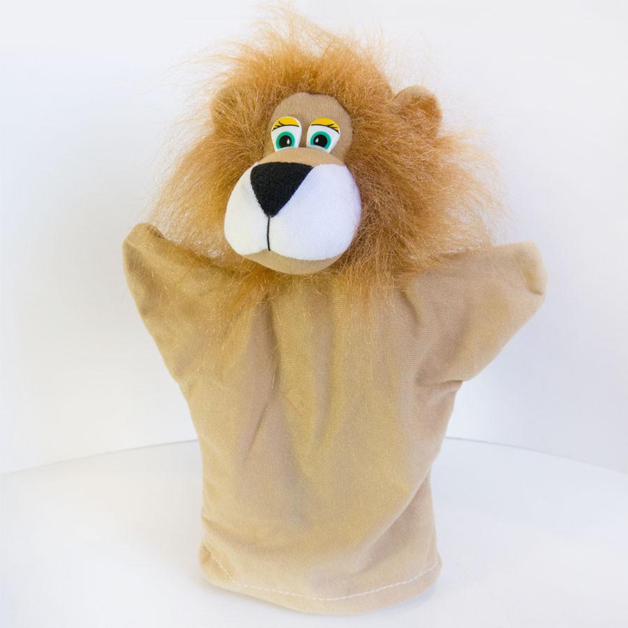 Ляльковий театр Zolushka Лев 31см (326) Перчаточная лялька на руку для постановок! Лялька рукавичка!