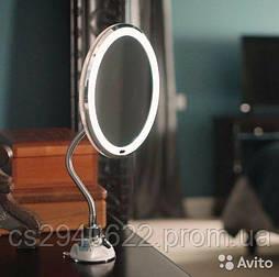 Косметическое Зеркало со Светодиодной Подсветкой на Гибкой Ножке My Flexible Mirror 5X\10X
