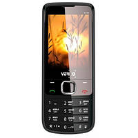 Кнопочный телефон с камерой, большим экраном и фонариком на 2 sim Verico F244 Black (клон Nokia 6700)