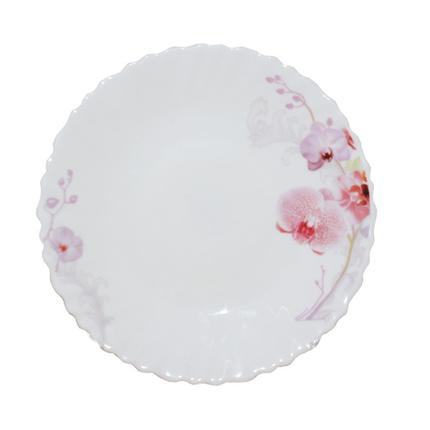 Тарілка склокераміка 19 см Рожева орхідея SNT 30070-61099, фото 2