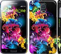 """Чехол на Samsung Galaxy S5 Duos SM G900FD Абстрактные цветы """"511c-62"""""""