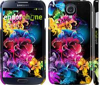 """Чехол на Samsung Galaxy S4 i9500 Абстрактные цветы """"511c-13"""""""