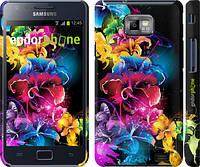 """Чехол на Samsung Galaxy S2 i9100 Абстрактные цветы """"511c-14"""""""