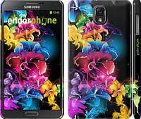"""Чехол на Samsung Galaxy Note 3 N9000 Абстрактные цветы """"511c-29"""""""