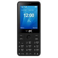 Кнопочный телефон черный с камерой и мощной батареей на 2 сим карты Verico Qin S282 Black