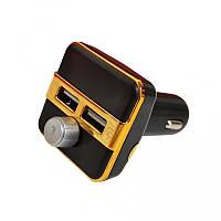 Автомобильный ФМ Bluetooth модулятор FM трансмиттер для авто в машину  X9BT Original Золото