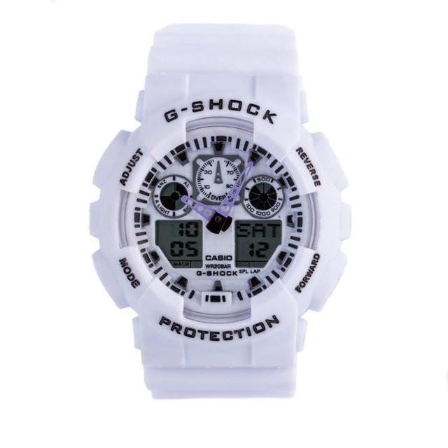 Часы Cas** G-Shock ga-100  Касио Джи Шок  Белые, Мужские /Женские (чоловiчi, жіночі) Наручний годинник часи