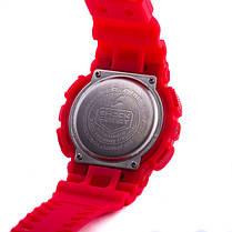 Часы Касио Casio G-Shock ga-100 RED Джи Шок  Красные (Наручний годинник). ГАРАНТИЯ, фото 3