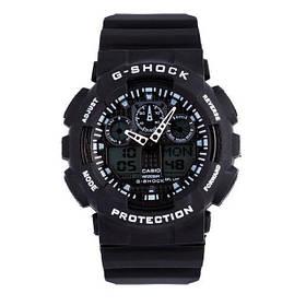 Часы Касио Джи Шок Casio G-Shock ga-100 Black-White (черные с белым) наручний годинник