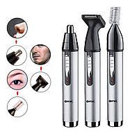 Триммер аккумуляторный 3 в 1 для стрижки бровей и волос в носу ушах бритва GEMEI PRO GM-3107 ORIGINAL