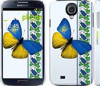 """Чехол на Samsung Galaxy S4 i9500 Желто-голубая бабочка """"1054c-13"""""""