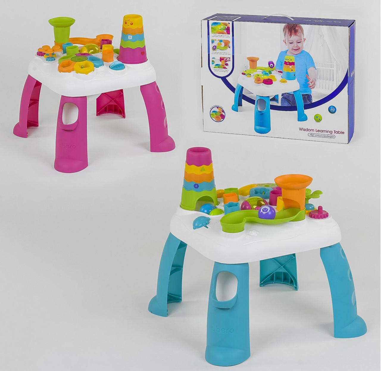 Розвиваючий ігровий столик QX 91161 E, Рожевий