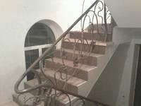 Кованые перила к Лестнице на второй этаж в дом