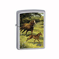 Зажигалка Zippo 24782 Horse & Foal (Лошадь и жеребенок)