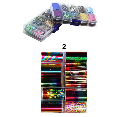 Набор фольги для дизайна ногтей (большой)