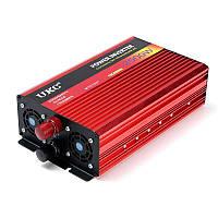 Инвертор автомобильный преобразователь напряжения с плавным пуском UKC с 12 в 220V на 2500 Вт (+USB выход)