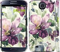 """Чехол на Samsung Galaxy S4 i9500 Цветы акварелью """"2237c-13"""""""