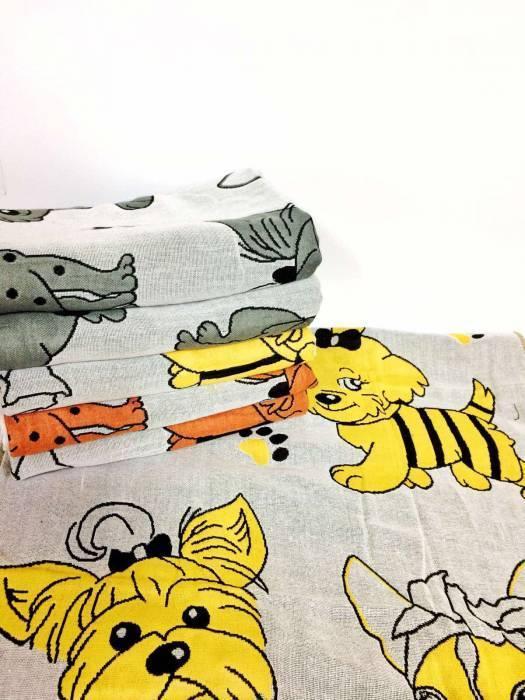 Полотенца лицевые Собаки лен
