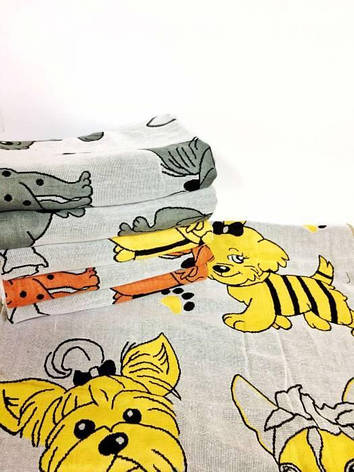 Полотенца лицевые Собаки лен, фото 2