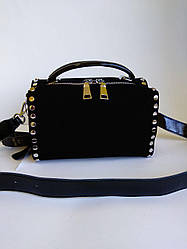 Жіноча замшева сумка Polina & Eiterou чорна