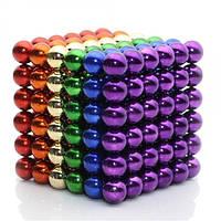 Магнитная развивающая игрушка шарики на магните NeoCube Разноцветный 216 шт антистресс головоломка кубик 5мм в боксе