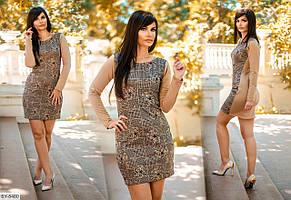 """Платье женское  французский трикотаж (42-44;44-46) """"Valentia-R"""" 2P/NR-1357"""