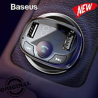 Автомобильный FM трансмиттер Baseus S-09 T-Typed Bluetooth MP3 Black