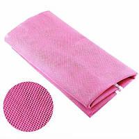 Коврик подстилка для пикника или моря АНТИ-ПЕСОК Sand Free Mat 200x200 мм Розовый ORIGINAL (IM 46596)
