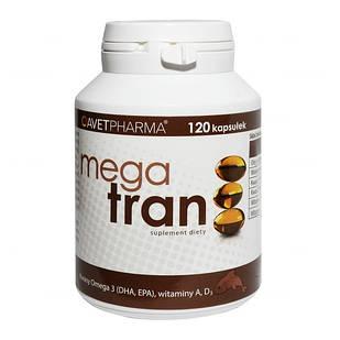 Omega-3 Mega tran рыбий жир из печени трески 120 капсул