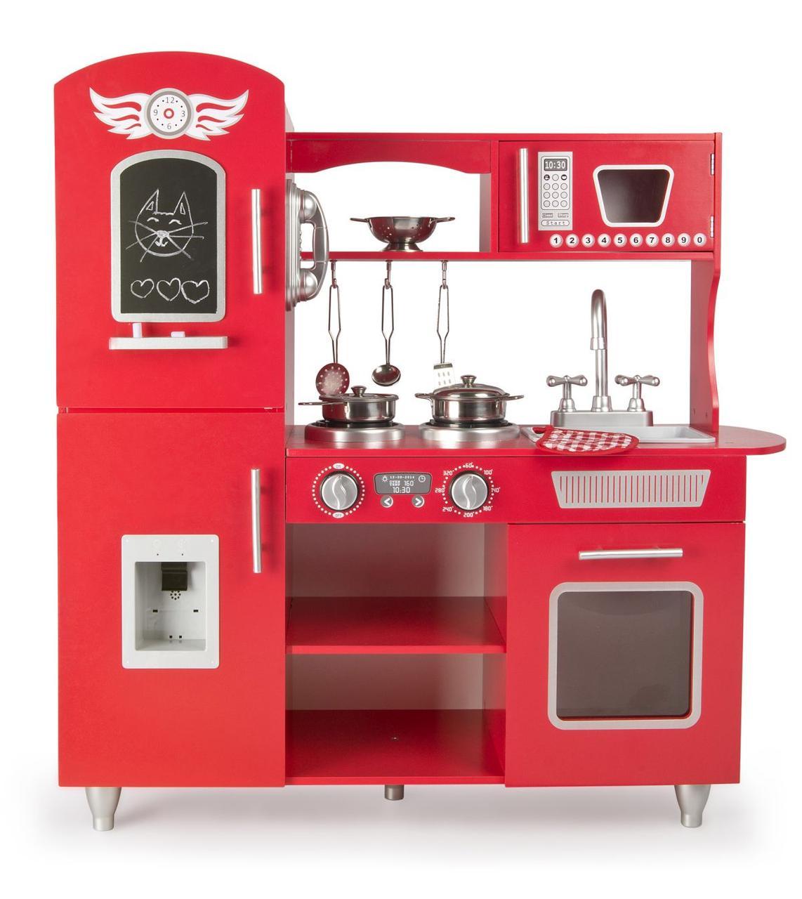 Дитяча дерев'яна кухня Big Red 246218 + аксесуари (9093)