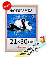 Фоторамка пластиковая 21х30 А4, рамка для фото, дипломов, сертификатов, грамот, вышивок 1411-7