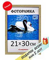 Фоторамка пластиковая А4, 21х30, рамка для фото, дипломов, сертификатов, грамот, картин,1411-603
