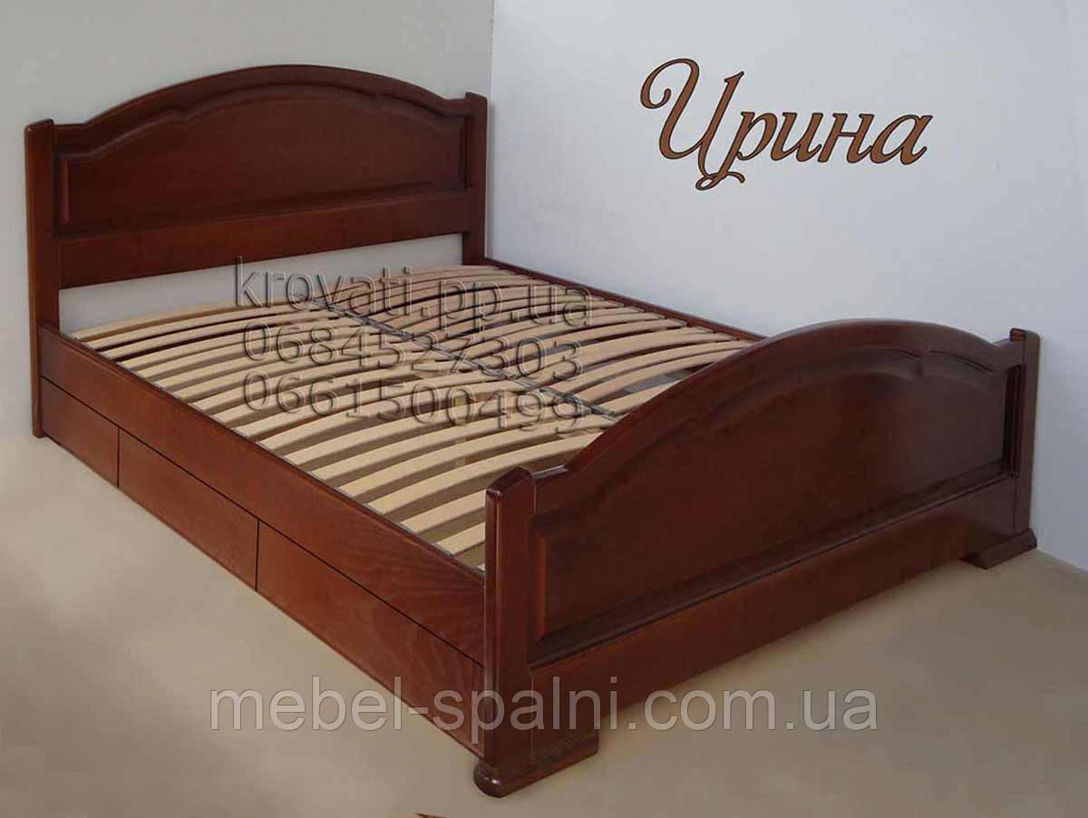 """Кровать полуторная деревянная с ящиками """"Ирина"""" kr.ir5.1"""