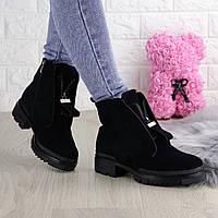 Женские зимние ботинки Luna черные 1343, фото 1