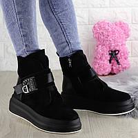 Женские зимние ботинки Marty черные 1344, фото 1