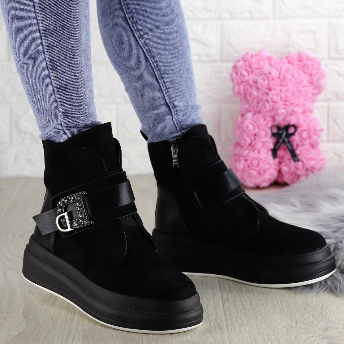 Женские зимние ботинки Marty черные 1344