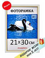 Фоторамка пластиковая А4, 21х30, рамка для фото, дипломов, сертификатов, вышивок 1512-14