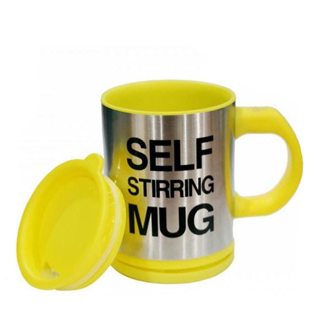 Кружка мешалка Self Stirring Mug 400 мл | Чашка-мешалка | Желтая