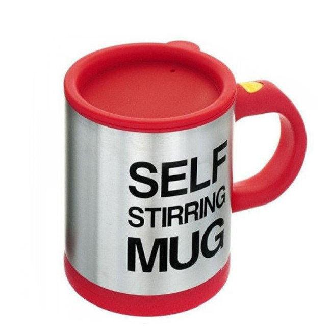 Кружка мешалка Self Stirring Mug 400 мл | Чашка-мешалка | Красная